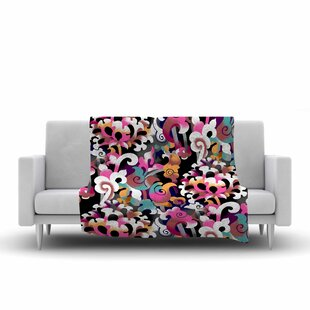 Victoria Krupp Fantasy Flowers Abstract Fleece Blanket By East Urban Home