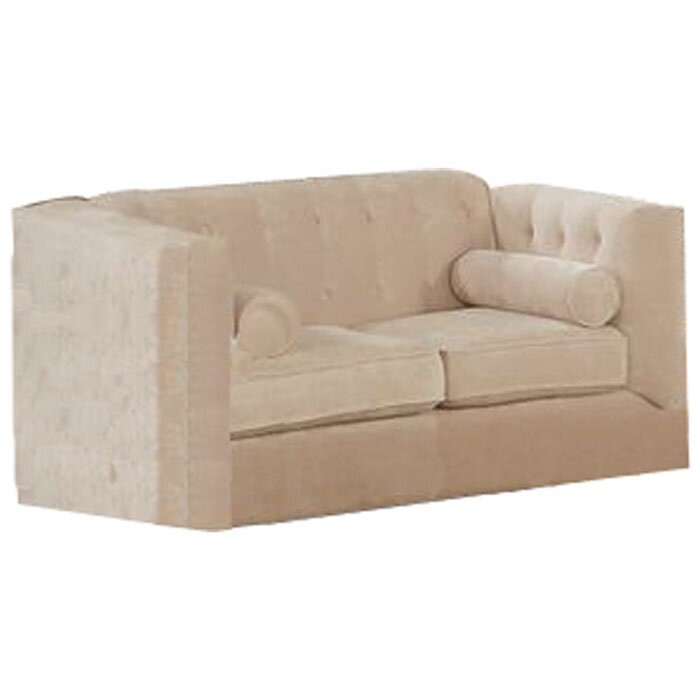 dalila chesterfield wood frame loveseat - Wood Frame Loveseat