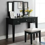 Nairn Vanity Set with Stool and Mirror by Latitude Run®