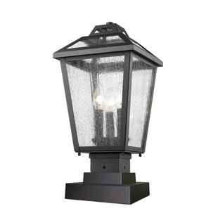 Croll 3-Light Pier Mount Light By Breakwater Bay Outdoor Lighting