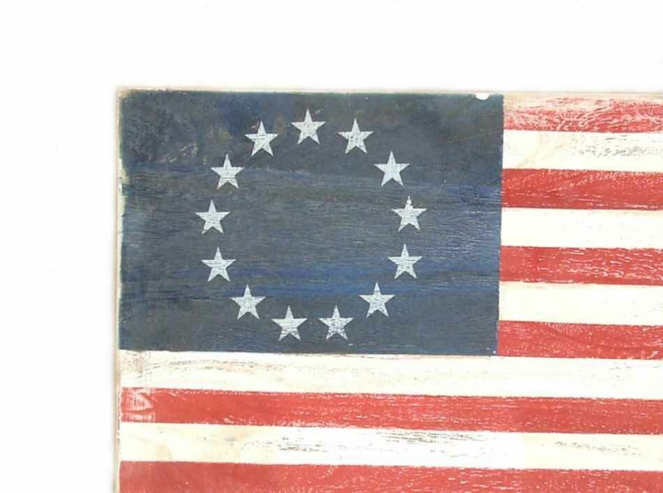 Exceptionnel Rustic USA Flag Wall Décor