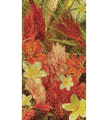 No Slip Mat by Versatraction Kahuna Grip Floral Weave Shower Mat