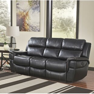 Shop Twomey Leather Reclining Sofa by Red Barrel Studio