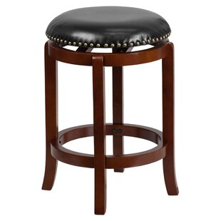 Ravenden Backless 25'' Swivel Bar Stool by Charlton Home