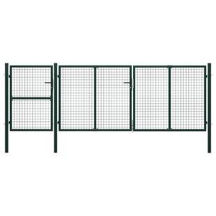 Adanac Garden 13' X 6' (4m X 1.75m) Metal Gate By Sol 72 Outdoor