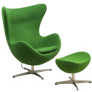 Fennell Swivel Lounge Chair with Ottoman ..