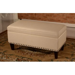 Faux Leather Storage Bench by