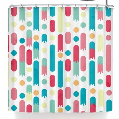 Tobe Fonseca Geometric Rain Shower Curtain