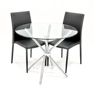 Daleyza Dining Set With 2 Chairs By Metro Lane