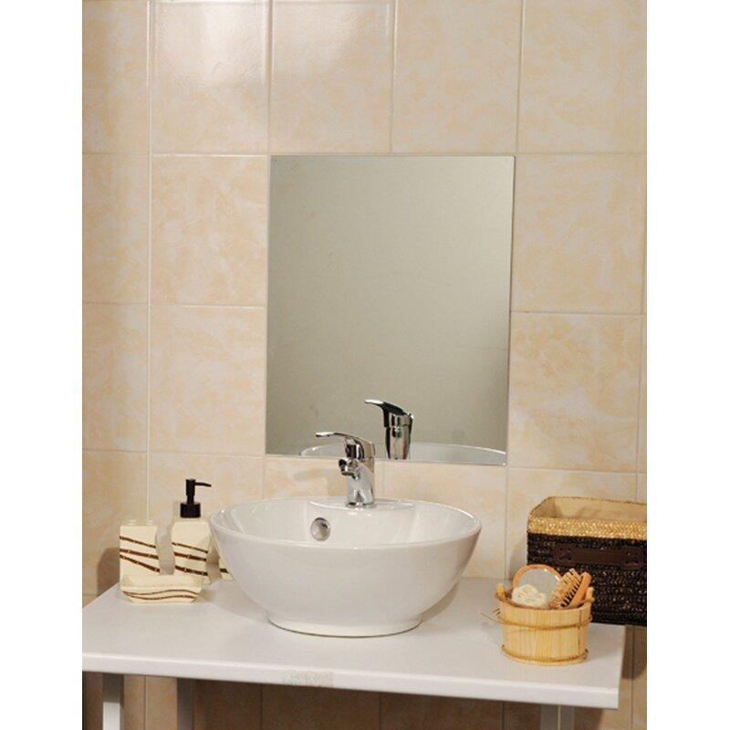 Evideco Mirrorfina Adhesive Rectangular Decorative Bathroom Wall ...