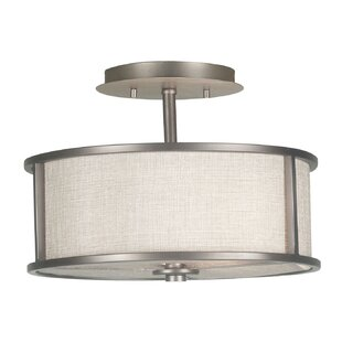 Latitude Run Kiel 2-Light Semi Flush Mount