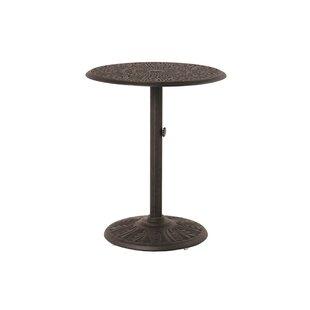 Merlyn Round Pedestal Aluminum Bar Table by