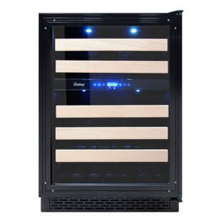 46 Bottle Panel Ready Dual Zone Convertible Wine Cooler
