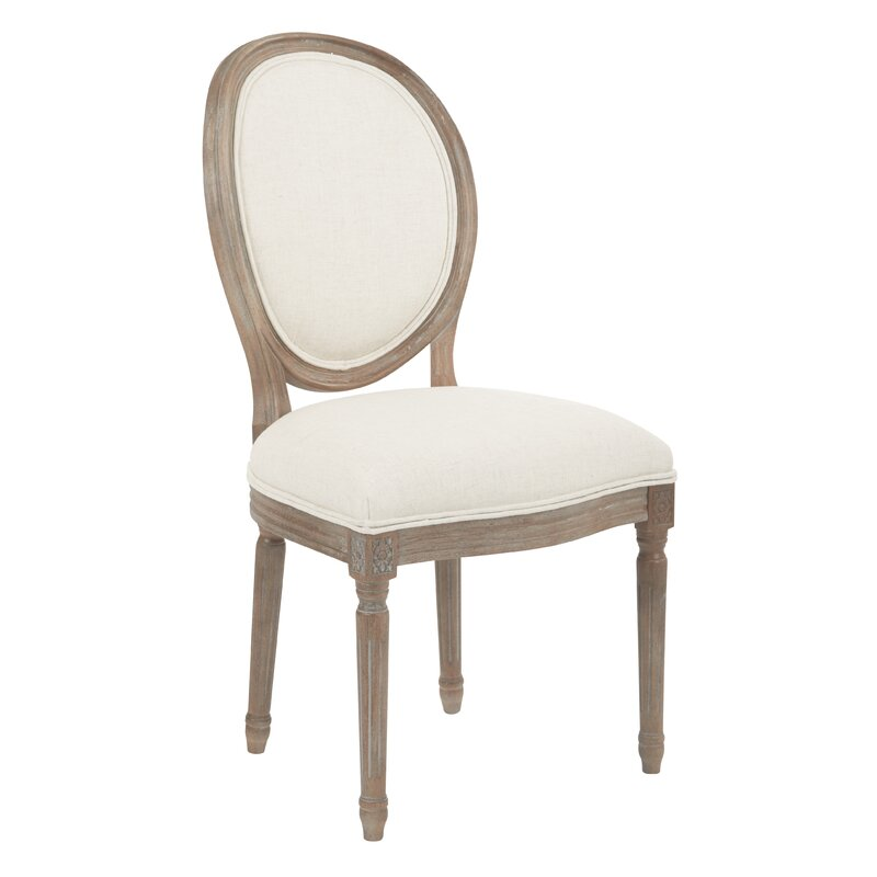 Lilian Oval Back Dining Side Chair. French Country Furniture Finds. Because European country and French farmhouse style is easy to love. Rustic elegant charm is lovely indeed.