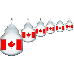 Polymer Products 6-Light Canadian Flag String Lights