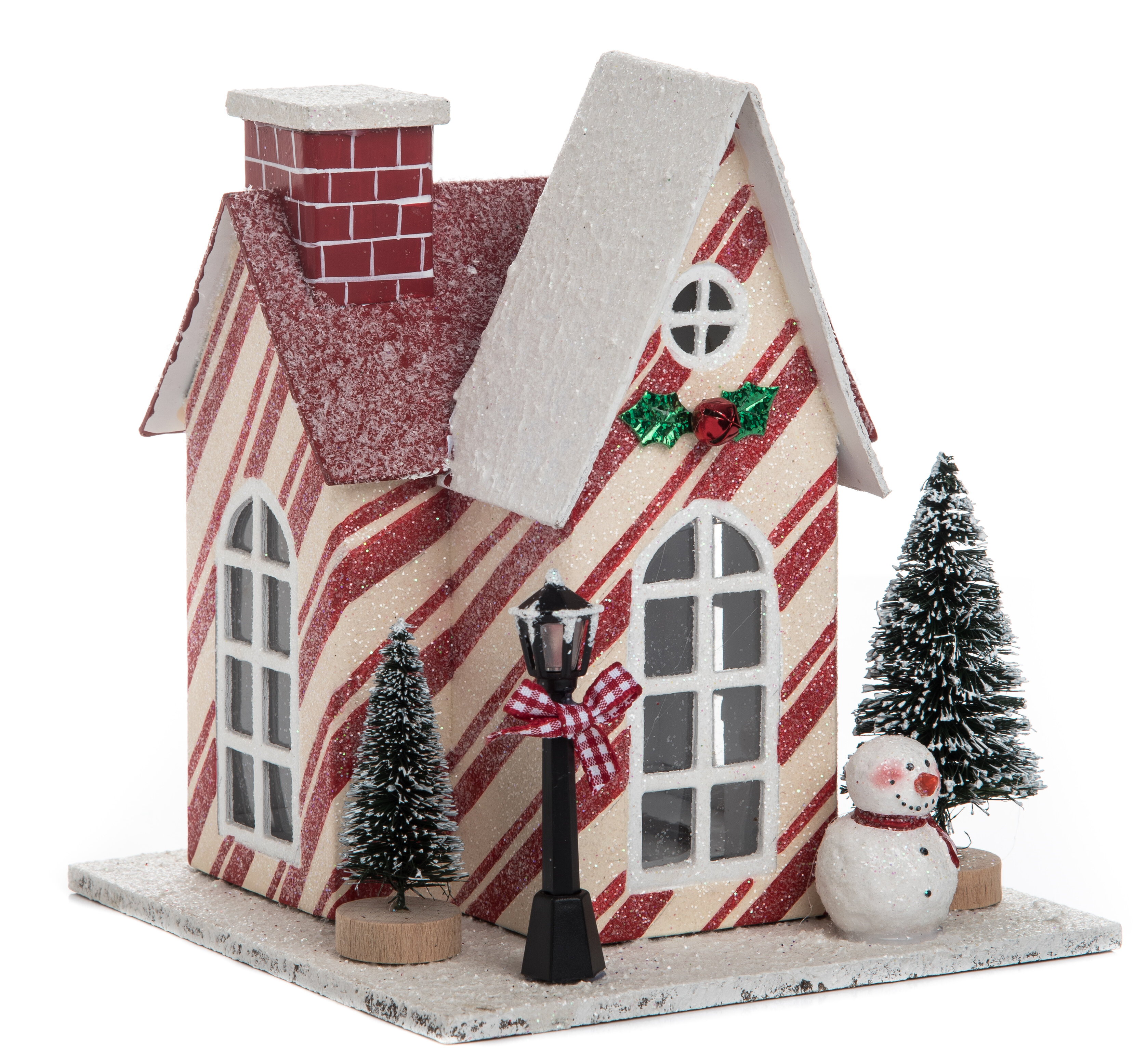 the holiday aisle small plywood light up christmas house wayfair - Small Light Up Christmas Decorations