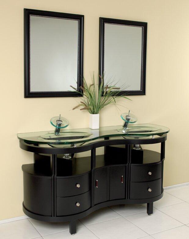 Classico 63 Double Unico Modern Bathroom Vanity Set With Mirror
