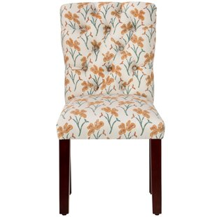Vanslyke Tufted Vanves Floral Side Chair Alcott Hill