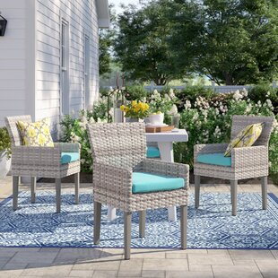 Falmouth Patio Dining Chair with Cushion (Set of 4)