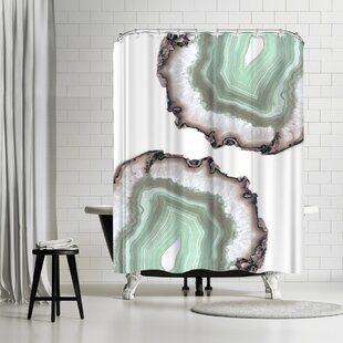 Emanuela Carratoni Fresh Water Agate Single Shower Curtain