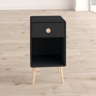Dorothy 1 Drawer Bedside Table By Hykkon