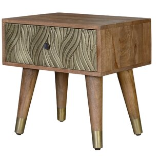 Aurelia 1 Drawer Bedside Table By World Menagerie