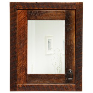 Check Prices Barnwood 18 x 22 Recessed Framed Medicine Cabinet with 3 Adjustable Shelves By Fireside Lodge