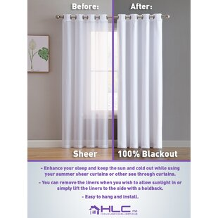 Housel Solid Color Max Blackout Thermal Grommet Single Curtain Panel by Symple Stuff