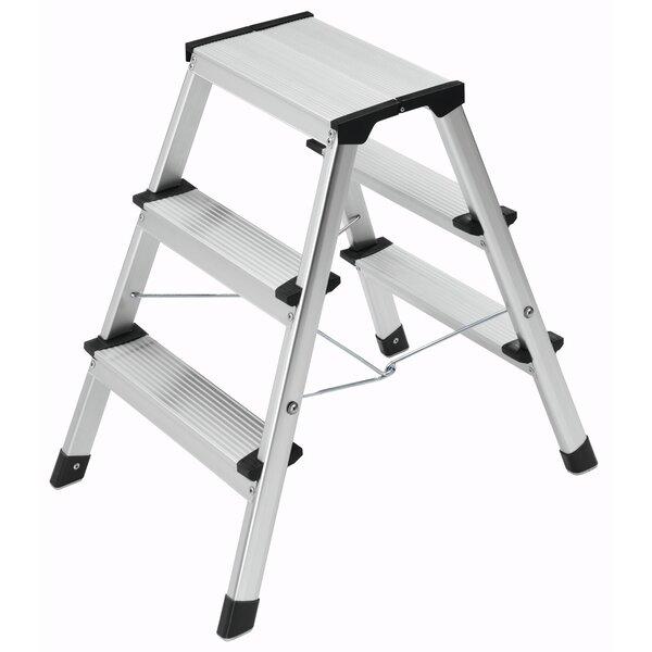 Hailo L 90 3 Step Aluminium Step Stool Wayfair Co Uk