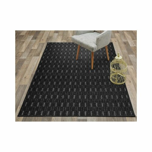 Hallee Tufted Anthracite Rug Mercury Row Rug Size: Runner