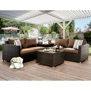 Edine 6 Piece Deep Seating Group with Cushions