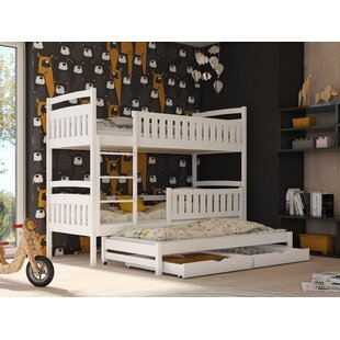Azaiah Single Triple Sleeper Bunk Bed With Trundle And Drawers By Harriet Bee