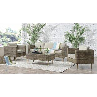 Brayden Studio Olena 4 Piece Sofa Set with Cushions