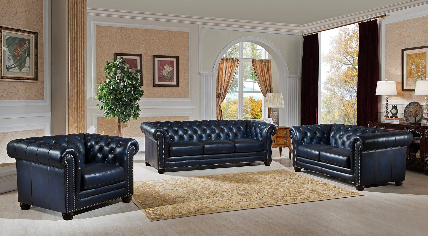 Bryce white italian leather sofa and loveseat 15814565 overstock -  Leather Living Room Furniture Default Name