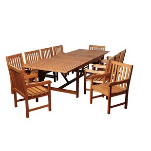 Rosecliff Heights Bridgepointe Eucalyptus 11 Piece Dining Set
