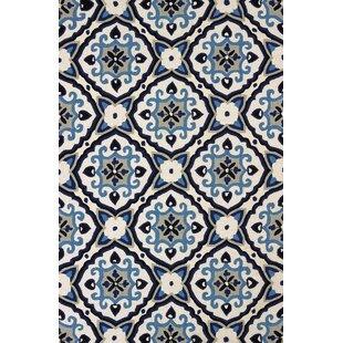 Reviews Atrium Handmade Sky Blue and Black Indoor/Outdoor Area Rug ByUnited Weavers of America