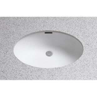 Toto Augusta Decorative Ceramic Oval Undermount Bathroom Sink with Overflow
