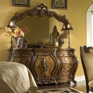 Michael Amini Palais Royale 8 Drawer Combo Dresser with Mirror
