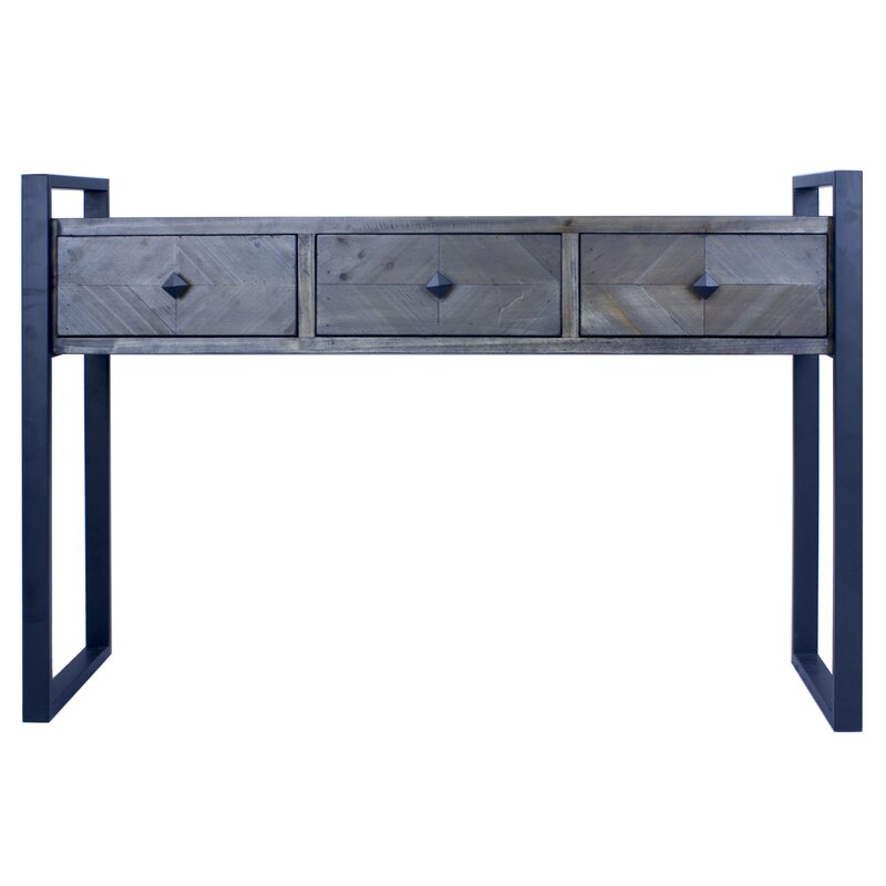 17 Stories  Delphine 3 Drawer Console Table Color: Gray