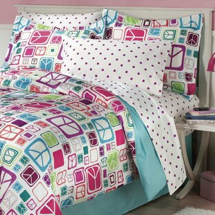 Peace Out Reversible Comforter Set