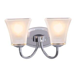 Charlton Home Hower Metal Bathroom 2-Light Vanity Light