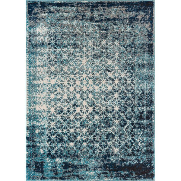 Bungalow Rose Allentow Modern Distressed Royal Blue Area Rug