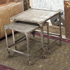 Industrial Steel Nesting Tables by Wildon Ho..