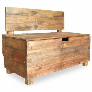 Deals Price Jahiem Wood Storage Bench