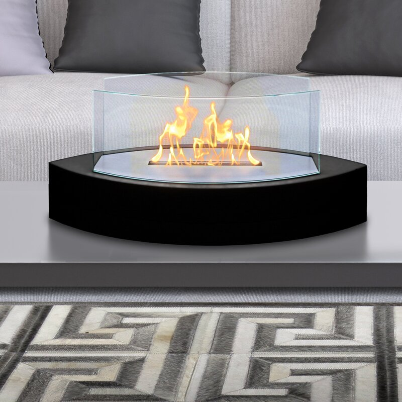 Coffee Table Fireplace anywhere fireplace lexington bio-ethanol tabletop fireplace
