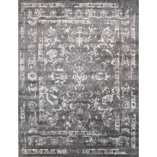 Transitional Rayon from Bamboo Silk Hand-Knotted Gray Area Rug ByPasargad