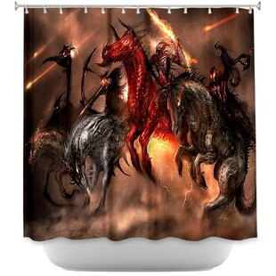 Four Horsemen Dragons Single Shower Curtain