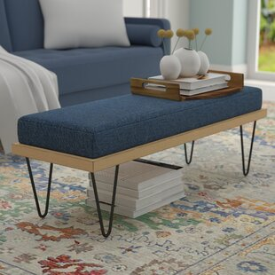 Wrought Studio Reavis Upholstered Bench