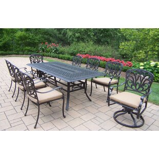 Darby Home Co Bosch 9 Piece Dining Set with Cushions