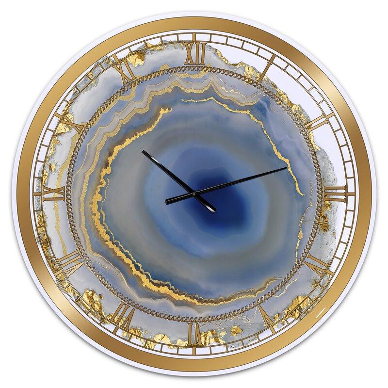 Oversized Water Agate Fashion Wall Clock